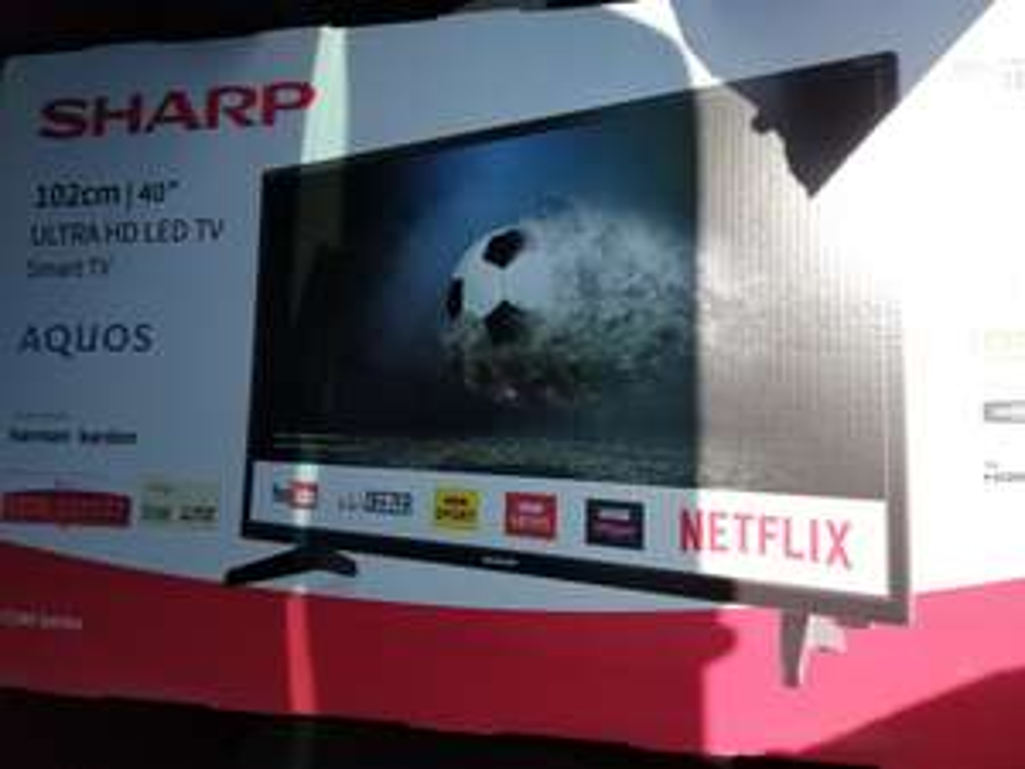 "Sharp Aquos LC-40UG7242K 40"" UHD 4k Smart TV in store with 5 year guarantee - £179 instore @ Asda"