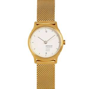 MONDAINE Gold Tone Helvetica Analogue Ladies Watch was £295 now £129.99 @ TK Maxx
