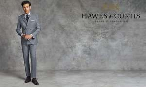 £9 for a £20 spend / £18 for a £40 w/code spend Menswear Online at Hawes & Curtis via Groupon