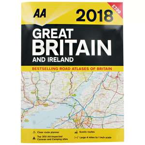 AA 2018 Great Britain and Ireland Road Atlas £1 @ The Works