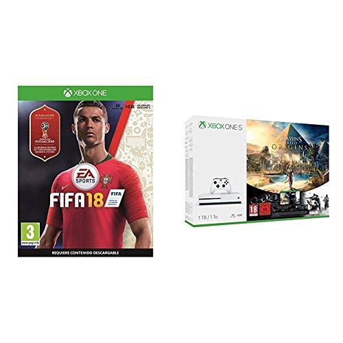 Xbox One S 1TB + Assassins Creed Origins + Fifa 18 + Rainbow Six Siege £180 @ Amazon Spain