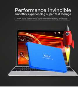Netac N600S 430GB 2.5 Inch Internal SSD 500MB/s Read Solid State Drive - £50 with coupon code @ Zapals