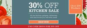 30% off Kitchen Department with code @ Scotts of Stow