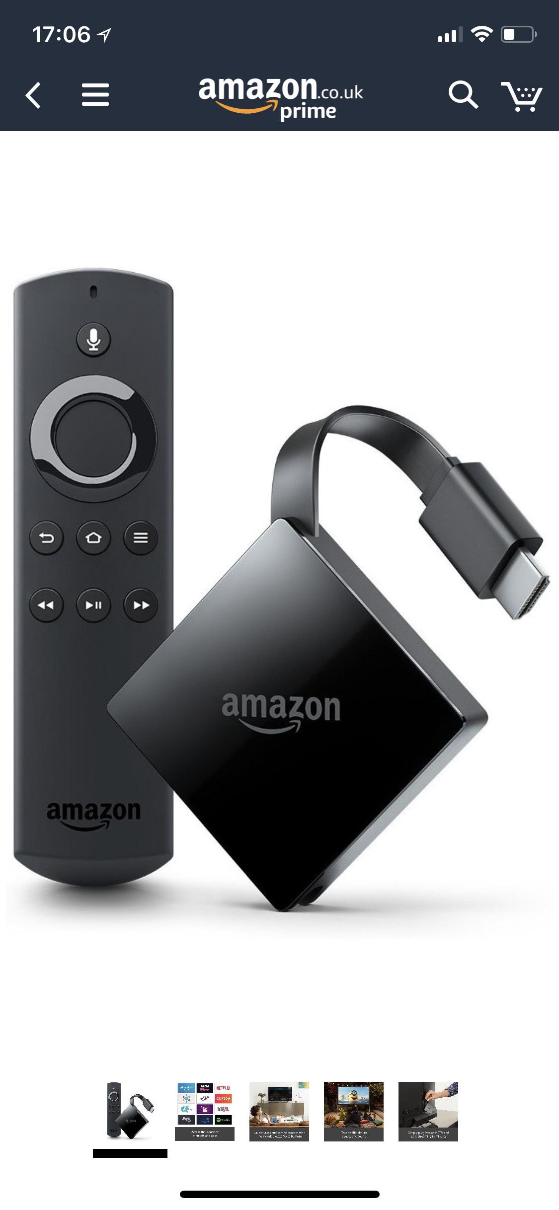 INSTORE Only - Amazon FireTV 4K UHD £40 instore @ Tesco