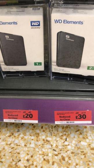 WD 2TB Hard Drive £30 at Sainsbury's
