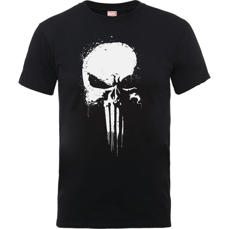 Marvel The Punisher Paintspray Men's Black T-Shirt (S to XXL) £8.99 + Free del w/code @ Zavvi