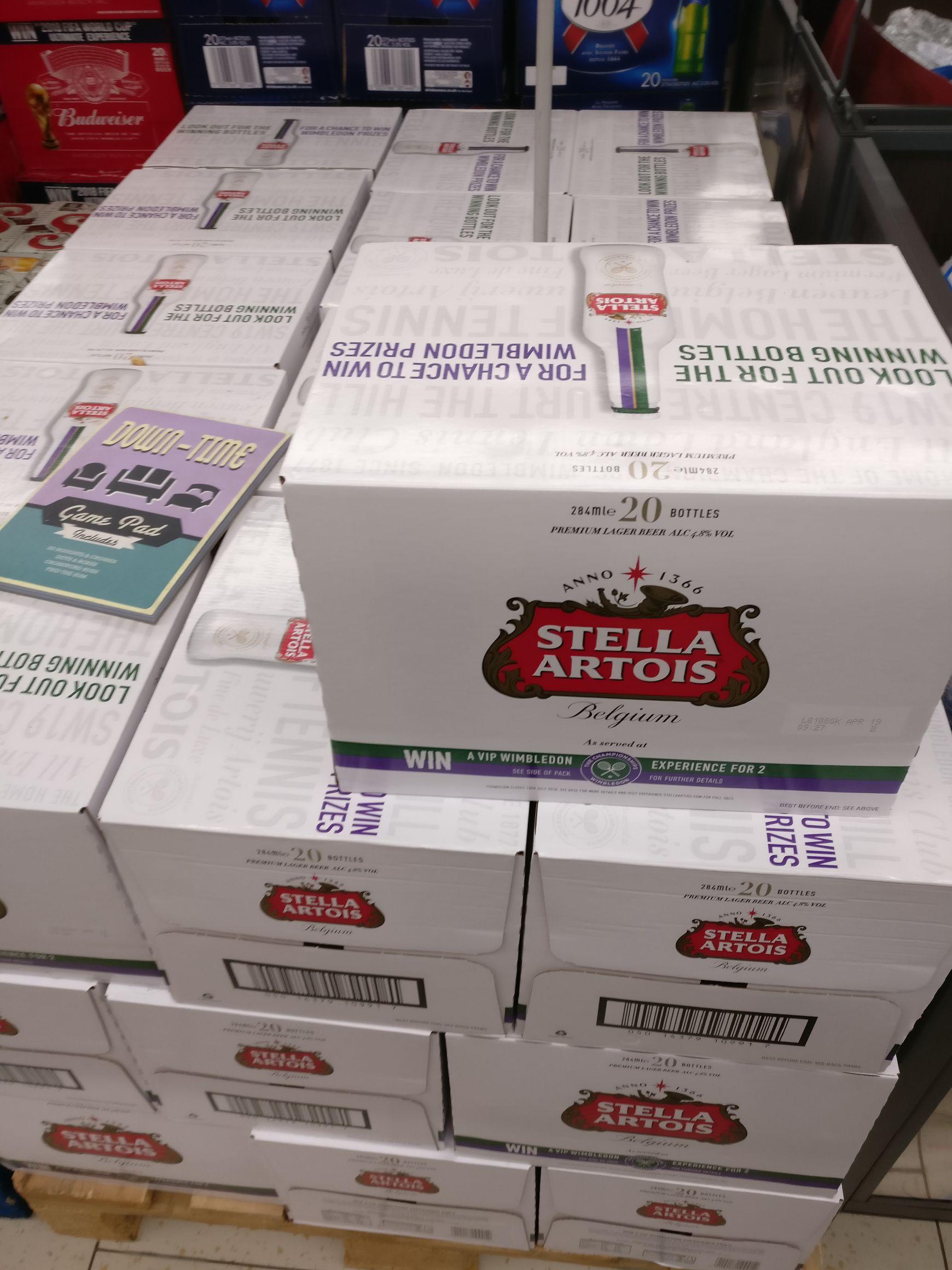 20 x 284ml bottles of Stella Artois for £9.99 @ LIDL