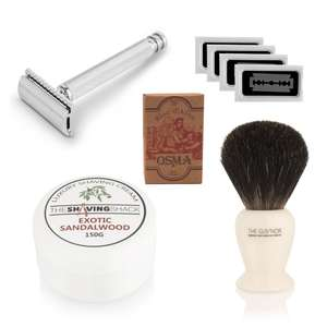 The drake double edge razor shaving starter kit £41.99 @ Shaving Stack