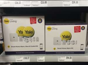Yale Smart Home Alarm, view & control kit - SR-340 now £180.27 instore at Homebase