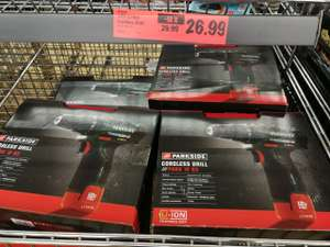 Parkside 12V Li-Ion Cordless Drill @lidl *instore only* - £26.99 (Warrington)