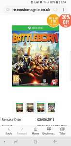 Battleborn on xbox one 1.99 on its own or the get buy two get two free deal @ Music Magpie