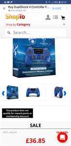 PS4 V2 Controller Lots of colours Inc Champions league edition £36.85  ShopTo