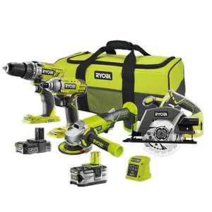 Ryobi Cordless Combined kit with 4 tools, 2 Batteries and Carry Bag £279.99 at Homebase