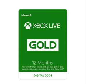 Xbox Live Gold 12 Month Subscription £22.79 @ Electronic First