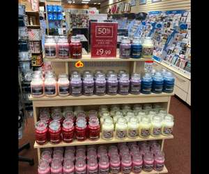 Large Yankee candles only £9.99 Clintons