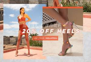 20% off All Heels with Code @ Public Desire