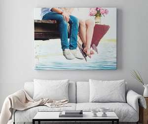 HUGE (120cm x 80cm) Personalised Canvas Print £22 / £27 delivered @ Mypicture