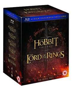 Middle Earth – Six Film Collection Extended Edition Blu ray £35.99 ebay / theentertainmentstore
