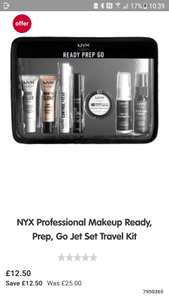 Half price NYX Professional Makeup Ready, Prep, Go Jet Set Travel Kit £12.50 usually £25 free C+C at Boots