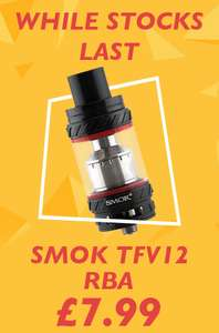 Smok TFV12 RBA Rebuildable Tank Atomizer £7.99 with code at ukecigstore