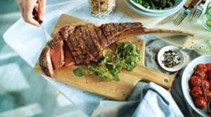 1.3KG Tomahawk Steak £13.00 // 16oz Big daddy burger steak £4.00 @ Aldi from June 14th