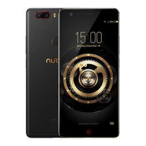 [HK Stock][Official Global Version]ZTE Nubia Z17 Lite 5.5 Inch Smartphone 6GB 64GB 13.0MP Dual Rear Camera Snapdragon 653 Octa Core Android 7.1 NFC QC3.0 Metal Body - Black Gold @ Geekbuying now £135.07