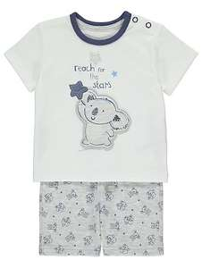 Baby Top & Shorts Was £5 Now £3 Free C&C Couple Different Designs, Various Sizes @ Asda George