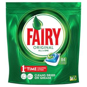Fairy All in One Original Dishwasher Tablets @ Asda for £10 (84 pack)