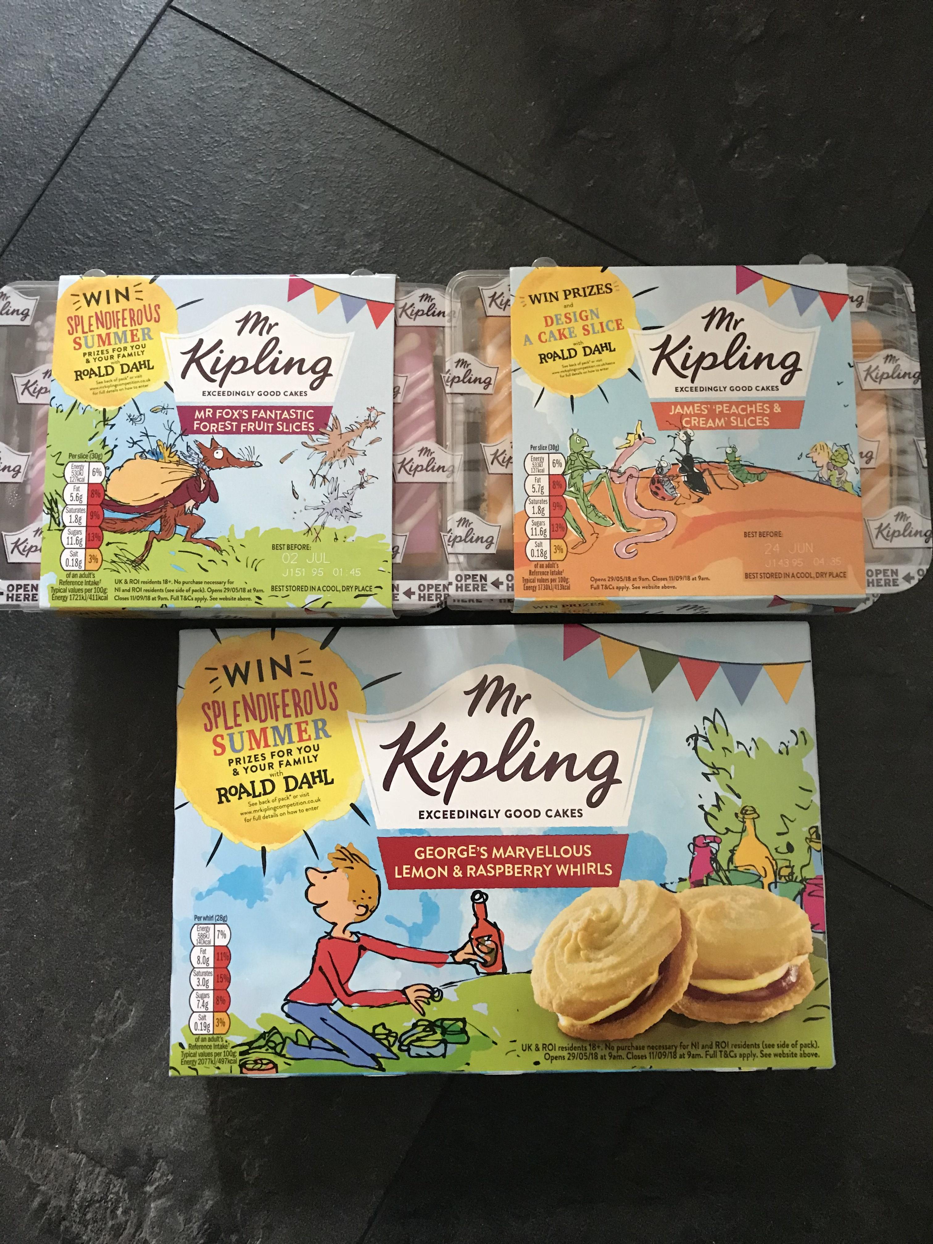 Mr Kipling limited edition Roald Dahl cakes £1 at Tesco