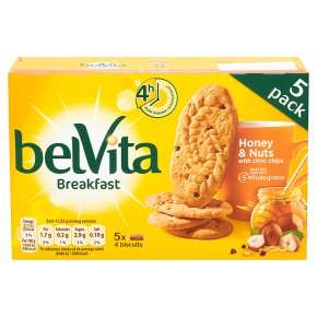 Belvita Breakfast Biscuits - 5 x 45g (5 flavours) - £0.99 online / in-store @ Tesco