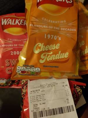 Walkers Flavour of the decades sweet chilli /cheese fondue 32.5g, 10p instore at Boots (Manchester)