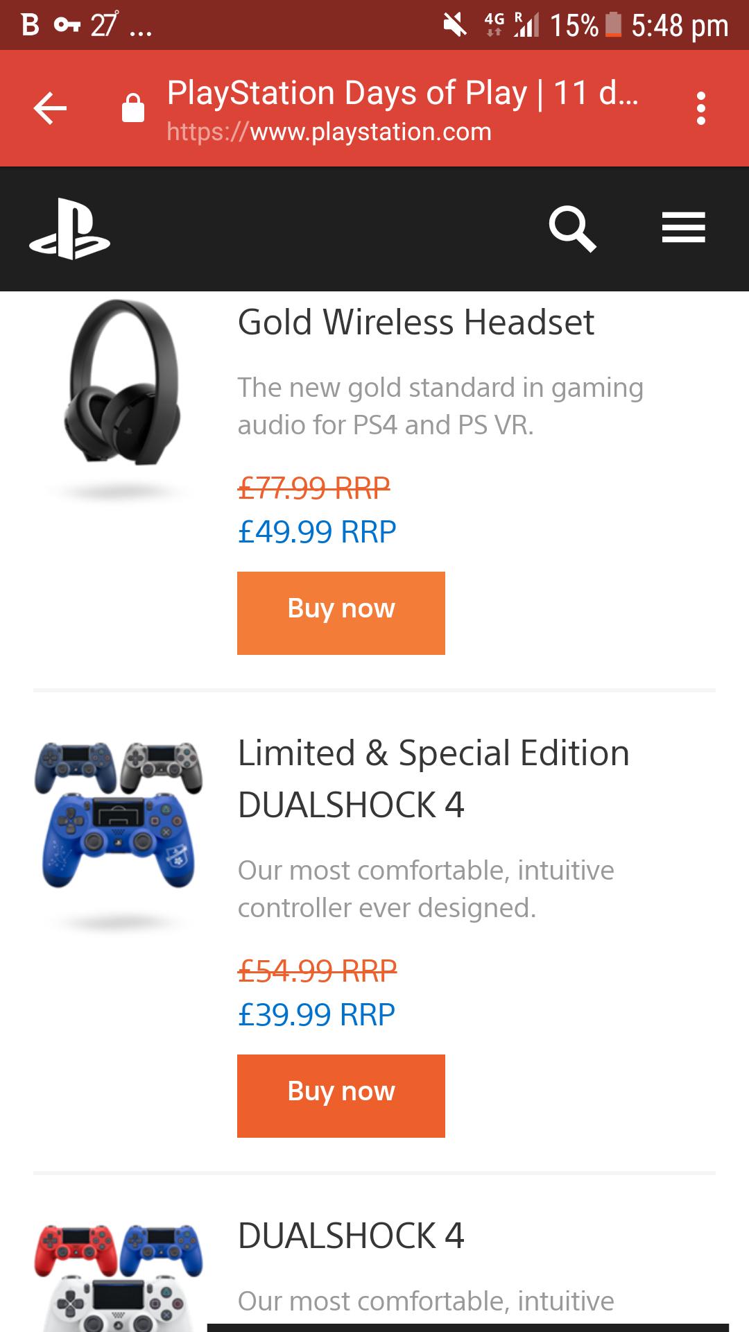 Sony Gold 7.1 wireless Headset new version v2 - £49.99 @ Smyths, pc world, very, shopto, game and amazon