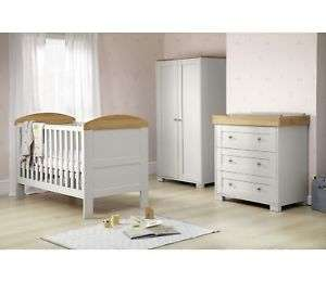 Mamas and papas grey 3 piece nursery set £499 but 25% off at checkout. Argos eBay £381.94
