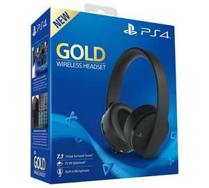 Sony GOLD PS4 Wireless Headset plus PS4 DualShock 4 V2 Wireless Controller £79.98 @ Argos