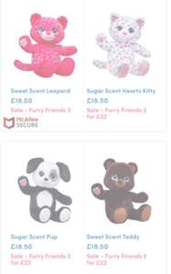 Build a bear 2 for £22 on selected bears (28 Designs) Plus more offers on clothing & accessories (+ £3.95 P&P)