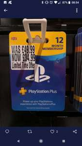 12 month PS Plus £34.99 + more (national) instore & some online @ HMV