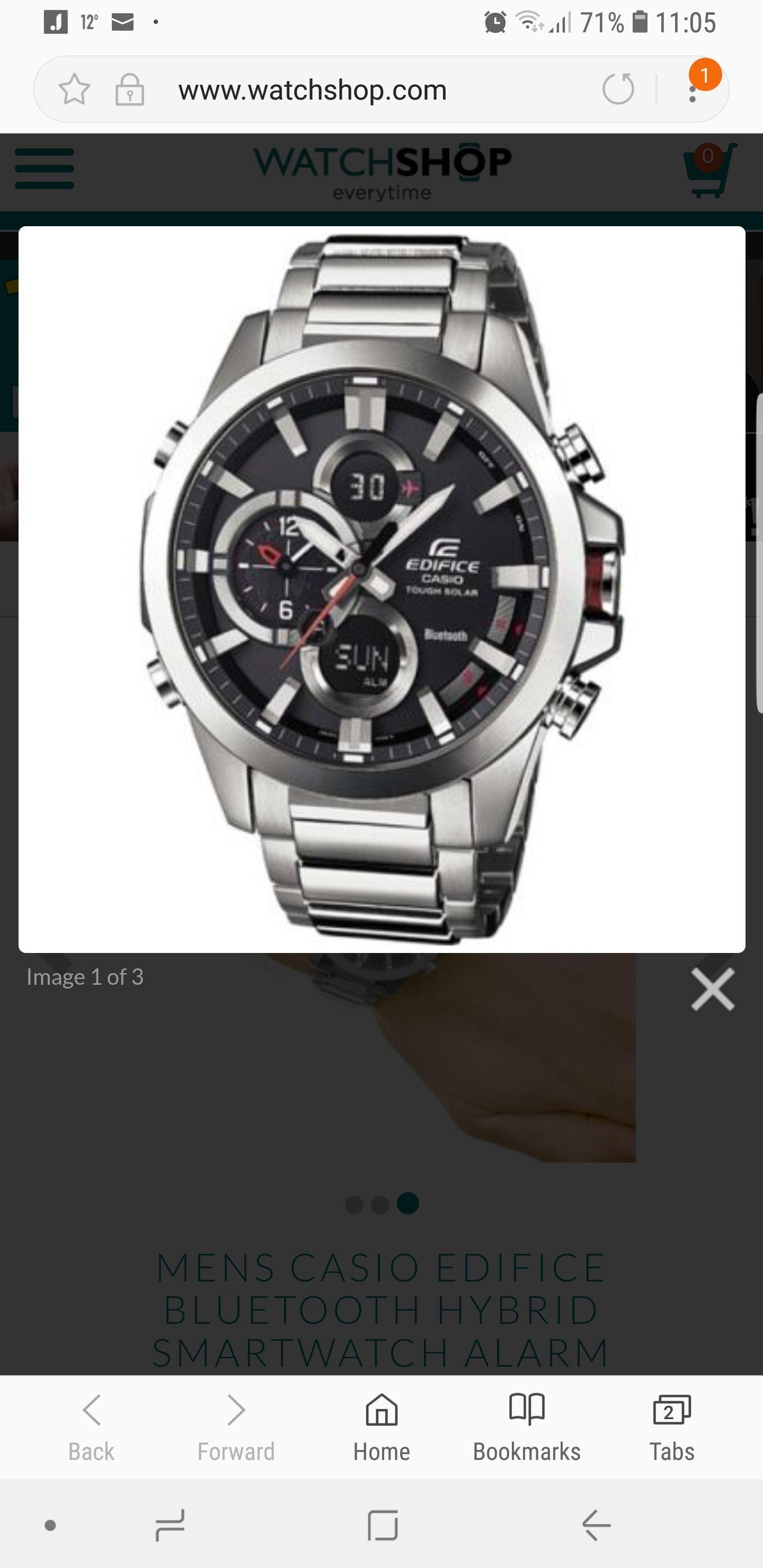 MENS CASIO EDIFICE BLUETOOTH HYBRID SMARTWATCH with code £135 @ Watch shop