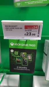 6 months Xbox Game Pass £24 Ending Today @ Currys instore / online