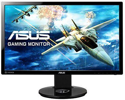 ASUS VG248QE 24 inch Widescreen LED Multimedia 3D Monitor (1920 x 1080, 80000000:1, 144 Hz, 1 ms, DVI Display Port, HDMI) - Black £199.99 @ Amazon