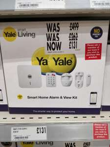 Yale Smart Home Alarm & View Kit - SR-330 £131 instore @ Homebase