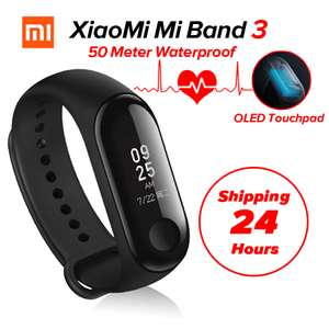 n Stock Xiaomi Mi Band 3 Miband 3 Fitness Tracker Heart Rate Monitor 0.78'' OLED Display Touchpad Bluetooth 4.2 For Android IOS £27.73 @mi ecosystem store /aliexpress