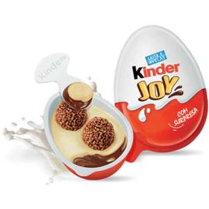 Kinder joy on offer 50p each instore @ one stop shop