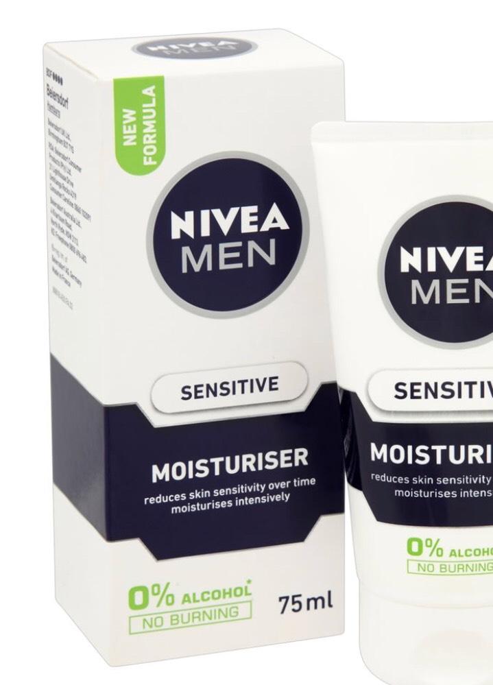 Nivea For Men Moisturiser Sensitive 75ml £3 down from £6 - Wilkinson's