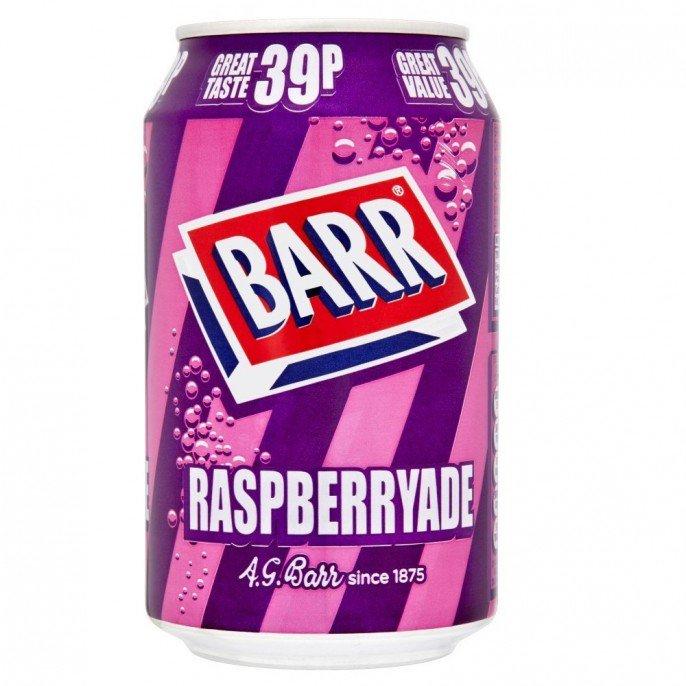 BARR RASPBERRYADE 330ML CAN 29p @ Poundstretcher