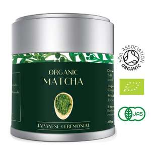 Matcha Green Tea Powder Finest ORGANIC CEREMONIAL Grade 30g per Premium AAA Japanese VIBRANT DEEP GREEN Colour | Vegan, Antioxidants, Energy and Metabolism Boost (Lot 583) £13.08 Prime / £17.57 Non Prime Sold by Heapwell and Fulfilled by Amazon