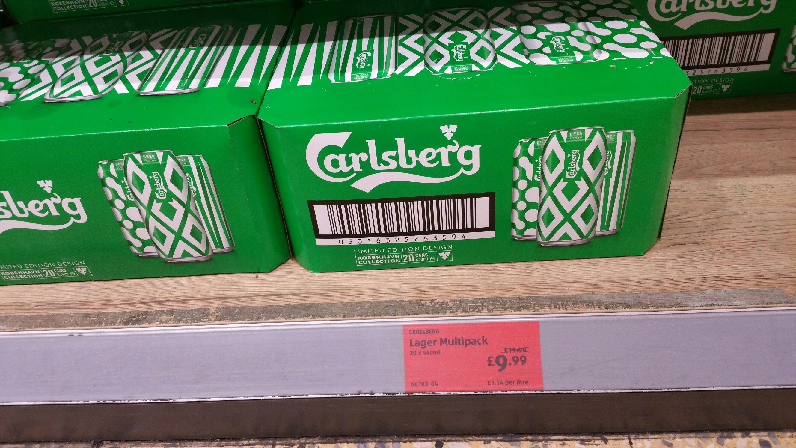 Carlsberg 20 x 440ml £9.99 at Aldi