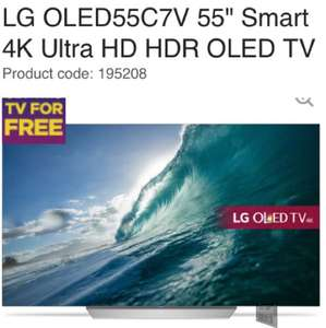"LG OLED55C7V 55"" Smart 4K Ultra HD HDR OLED TV £1399 @ currys With 5 year Guarantee Plus 1 in 20 Chance to get this TV for Free"