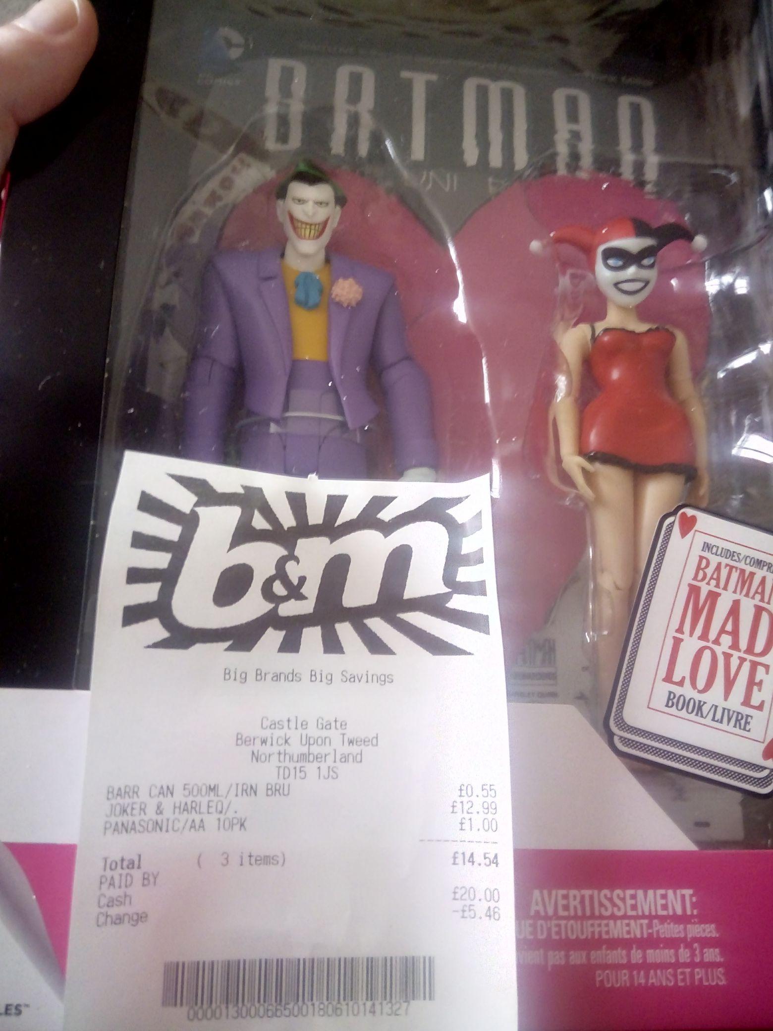 Joker and Harley Quinn 2pk with Comic set - £12.99 instore @ B&M