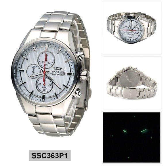 Seiko Solar Titanium Chronograph SSC363P1 Men's Watch, 100M WR, £79.99 @ argos ebay