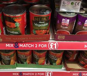 Heinz Soup bigger 400g All varieties - 2 for £1 Chicken & Barley, Classic Vegetable - 50p each @ Poundland